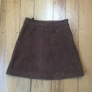 Few Moda New York Skirts - Few Moda New York Vegan Suede A-line Mini Skirt